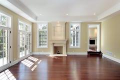 комната дома конструкции живя новая Стоковая Фотография