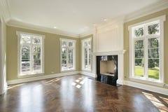 комната дома конструкции живя новая Стоковые Изображения