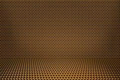 комната золота предпосылки Стоковое Изображение