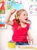 комната игры изображения ребенка щетки Стоковая Фотография RF