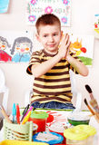 комната игры изображения ребенка щетки Стоковая Фотография
