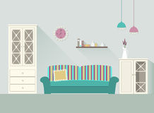 Комната 3 дизайна живущая Стоковые Фотографии RF
