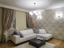 комната изображения 3d нутряная живущая Стоковая Фотография