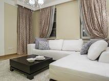 комната изображения 3d нутряная живущая Стоковые Изображения