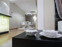 комната изображения 3d нутряная живущая Стоковое фото RF