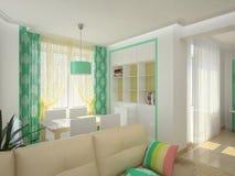 комната изображения 3d нутряная живущая бесплатная иллюстрация