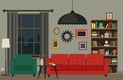 комната изображения 3d нутряная живущая Стоковые Фотографии RF