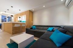 комната изображения 3d нутряная живущая Стоковое Изображение RF