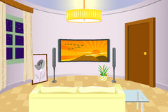 комната интерьера живя самомоднейшая Стоковые Изображения