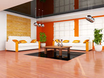 комната интерьера живя самомоднейшая иллюстрация вектора
