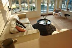комната интерьера живя самомоднейшая Стоковые Фото