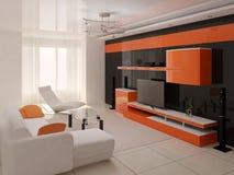 комната интерьера живя самомоднейшая Стоковая Фотография RF