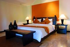 комната интерьера кровати Стоковые Фото