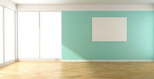 Комната и изображение бирюзы пустые Стоковые Фото