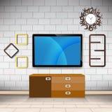Комната и украшения на стене вводят современный вектор в моду предпосылки Стоковые Изображения RF