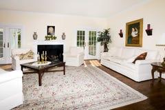 комната камина живя роскошная Стоковое Изображение RF