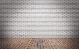 Комната кирпичной стены пустая Стоковая Фотография