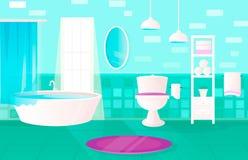 Комната красивой зеленой ванной комнаты современная с стоковое фото rf