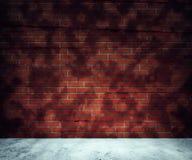 Комната красного кирпича Стоковое фото RF