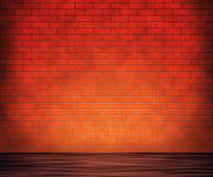 Комната красного кирпича Стоковая Фотография