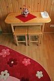 комната красного цвета детали ковра Стоковая Фотография