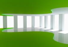 Комната кривой зеленая пустая Стоковые Фотографии RF