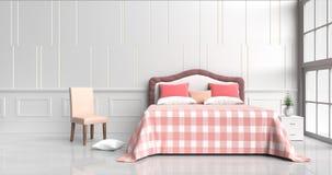 комната кровати в счастливом дне Стоковое фото RF