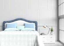 комната кровати в счастливом дне иллюстрация вектора