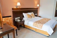 комната кровати двойная Стоковое Изображение RF
