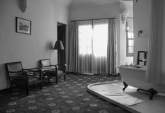 Комната кровати на гостинице Amadara в Dalat, Вьетнаме Стоковые Изображения RF