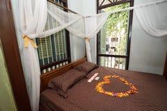 Комната кровати для wedding Стоковое фото RF