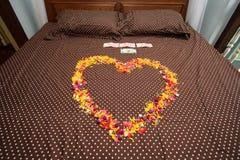 Комната кровати для wedding Стоковая Фотография