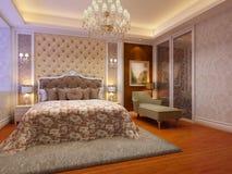 Комната кровати иллюстрация штока