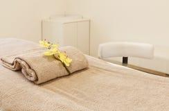 комната массажа кровати нутряная Стоковое Изображение RF