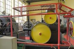 Комната машины старой электростанции Стоковое Изображение