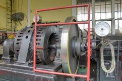 Комната машины старой электростанции Стоковая Фотография