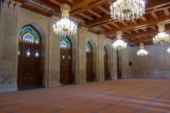 Комната молитве женщины в мечети Qaboos султана грандиозной Стоковое фото RF
