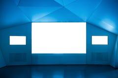 комната мультимедиа выставки Стоковые Изображения RF