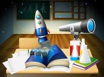 Комната научной лаборатории Стоковое Изображение