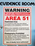 Комната доказательства, зона 51 стоковое изображение rf