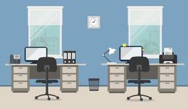 Комната офиса в голубом цвете Стоковые Фотографии RF