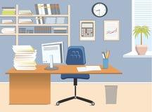 Комната офиса иллюстрация вектора