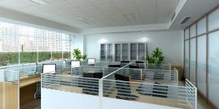 Комната офиса иллюстрация штока