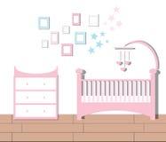 Комната питомника Иллюстрация вектора комнаты ребёнка плоская иллюстрация вектора