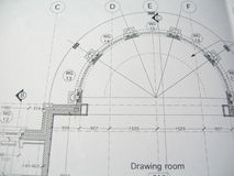 комната плана чертежа Стоковое фото RF