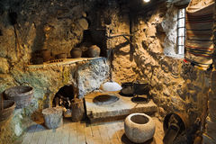 комната подземелья ретро стоковое изображение rf