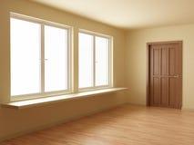 комната пола двери новая деревянная Стоковые Изображения
