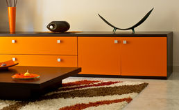 комната померанца салона Стоковое фото RF