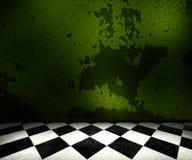 комната предпосылки зеленая старая Стоковые Изображения