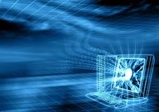 комната принципиальной схемы цифровая фактически Стоковое Изображение